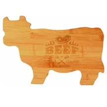 Bamboo Cow Cutting Board