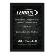 Black Marble Acrylic Plaque - 3 Sizes