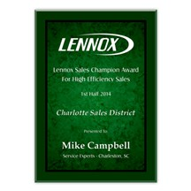 Green Marble Acrylic Plaque - 3 Sizes