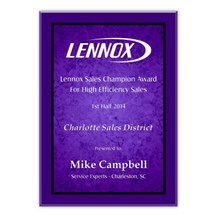 Purple Marble Acrylic Plaque - 3 Sizes