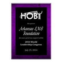 Scratch Purple Acrylic Plaque - 3 Sizes