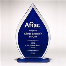 Acrylic Blue Flame Award