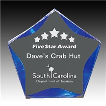 Self Standing Luminary Star Acrylic Award