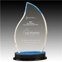 Blue Flame Acrylic Award - 2 Sizes