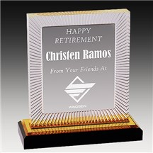 Gold Carved Rectangle Acrylic - 3 Sizes
