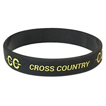 Cross Country Silicone Wrist Band