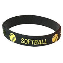 Softball Silicone Wrist Band