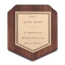 Genuine Walnut Shield Plaque
