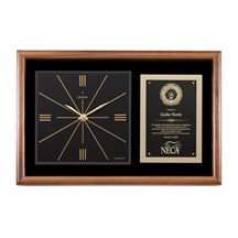 Genuine Walnut Clock Plaque
