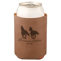 Dark Brown Leatherette Beverage Holder