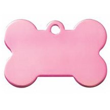 Pink Dog Bone Pet Tag