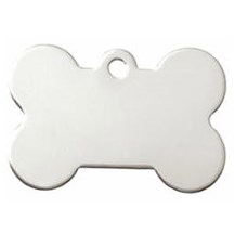 Silver Dog Bone Pet Tag