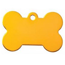 Gold Dog Bone Pet Tag