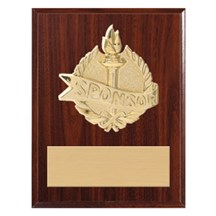 3D Gold Mount  Sponsor Plaque