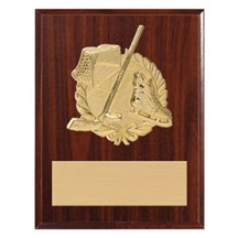 3D Gold Mount Hockey Plaque