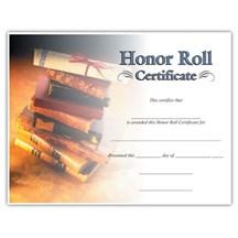 Honor Roll (8-1/2