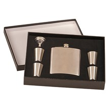 6 oz. Stainless Steel Flask Set