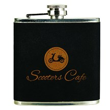 Laserable 6 oz. Stainless Steel Flask - Black Velvet