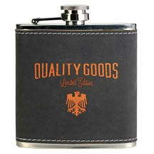 Laserable 6 oz. Stainless Steel Flask - Gray
