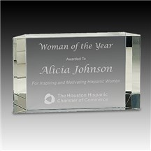 Glass Rectangular Award
