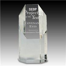 Optic Crystal Octagon Tower Award