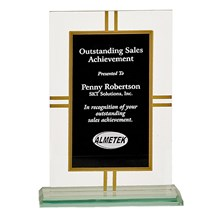 Contemporary Glase 4- point Award - 2 Sizes