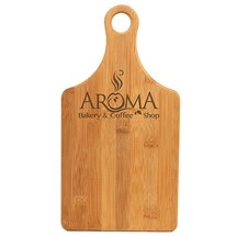 Paddle Shape Bamboo Cutting Board