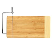 Two Tone Bamboo Cutting Board w/ Cheese Cutter