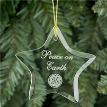 Star Shaped Glass Ornament