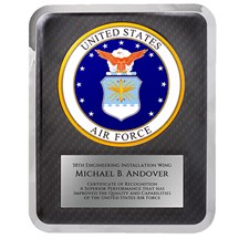 10.5 x 13 Air Force Seal Hero Plaque