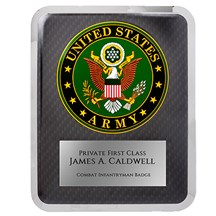 10.5 x 13 Army Seal Hero Plaque