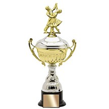 Metal Trophy Cup w/ Weighted Base