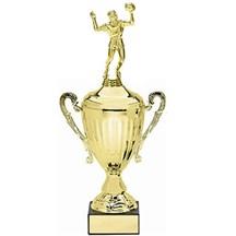 Metal Trophy Cup w/ Marble Base