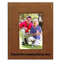 Dark Brown Leatherette Photo Frames - 2 Sizes