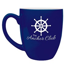 16 oz. Ceramic Bistro Mug - Blue