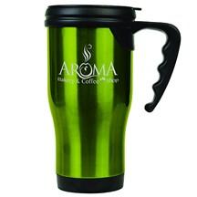 14 oz. Stainless Steel Travel Mug - Green