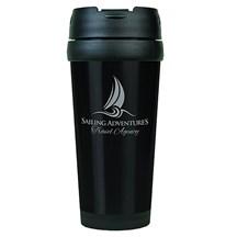 16 oz. Stainless Steel Travel Mug - Black
