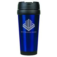 16 oz. Stainless Steel Travel Mug - Blue