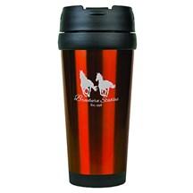 16 oz. Stainless Steel Travel Mug - Orange