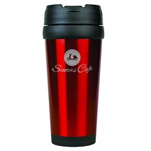 16 oz. Stainless Steel Travel Mug - Red
