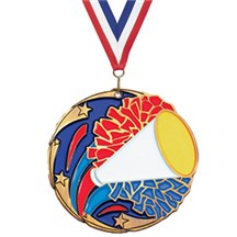 Full Color Shooting Star Cheerleading Medal