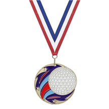 3D Shooting Star Golf Medal