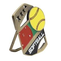 Color Pop Up Softball Medal