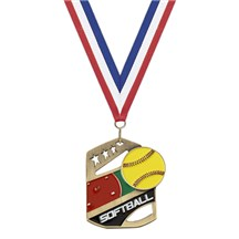 Gold Star Action Softball Medal