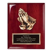 8x10 Praying Hands Plaque