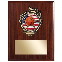 Victory Flame Basketball Plaque