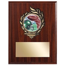 Victory Flame Football Plaque