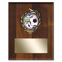 Victory Flame Soccer Plaque