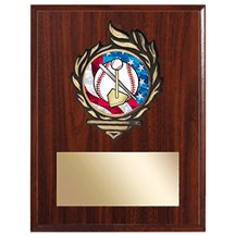 Victory Flame Tee Ball Plaque - 3 Sizes