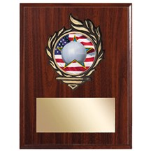 Victory Flame Volleyball Plaque